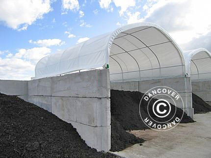 Container shelter PVC, 6X12.19X1.8 m, White