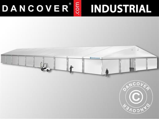 Industrial Storage Shelter Alu 20x50x9.04 m w/sliding gate, PVC, White