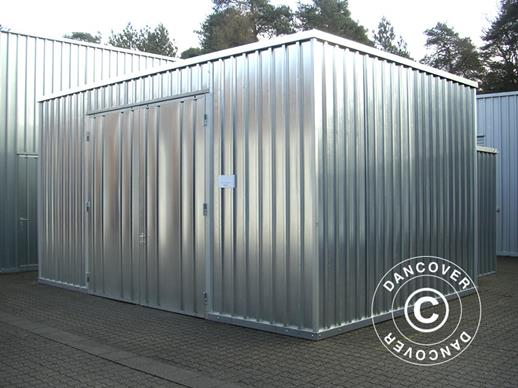 Steel Warehouse 7.1x20.1x3.225 m w/double door, Silver