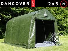 Storage tent PRO 2x3x2 m PE with ground cover Green/Grey & Storage Tents u0026 Shelters - Dancovershop UK