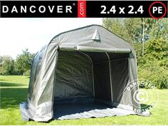 ST18118 Storage tent PRO 2.4x2.4x2 m PE with ground cover Grey & Storage Tents u0026 Shelters - Dancovershop UK