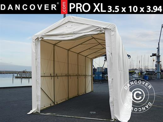 Storage shelter PRO XL 3.5x10x3.3x3.94 m, PVC, White
