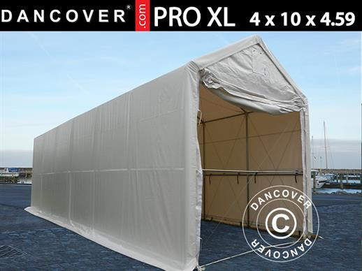 Storage shelter PRO XL 4x10x3.5x4.59 m, PVC, White