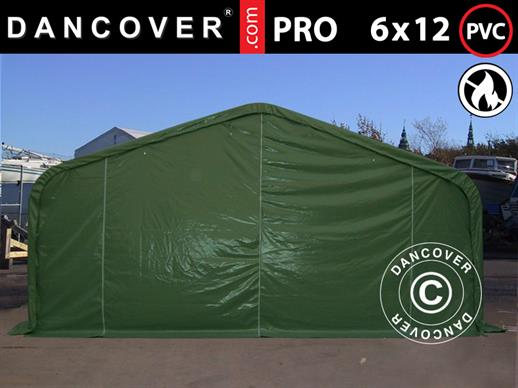 Storage shelter PRO 6x12x3.7 m PVC, Green