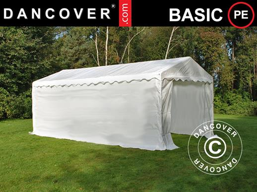 Storage Tent Basic 2-in-1, 3x6 m PE, White