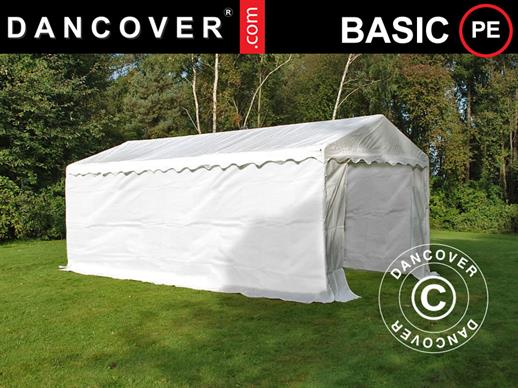 Opslagtent Basic 2-in-1, 4x6m PE, Wit