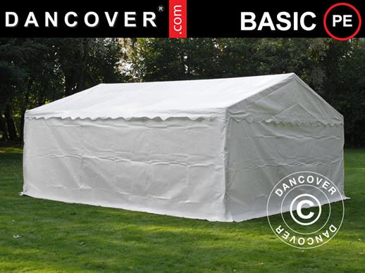 Storage Tent Basic 2-in-1, 5x6 m PE, White