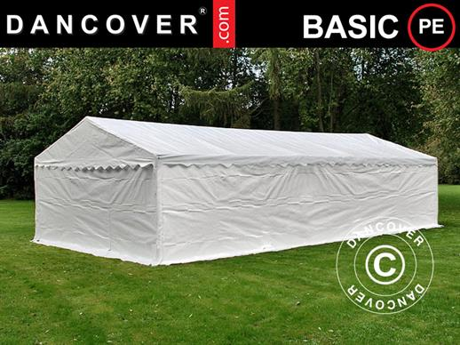 Storage Tent Basic 2-in-1, 5x8 m PE, White