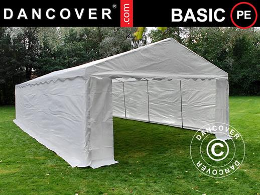 Storage Tent Basic 2-in-1, 6x12 m PE, White