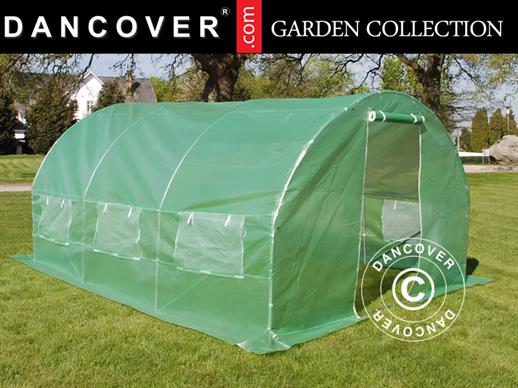Polytunnel Greenhouse 3x4.5x2 m, Green