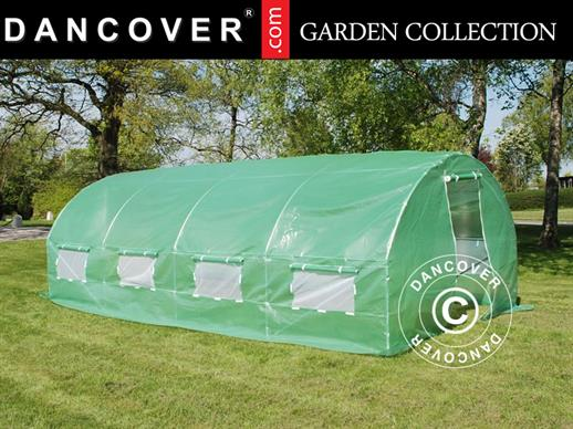 Polytunnel Greenhouse 3x8x2m, Green