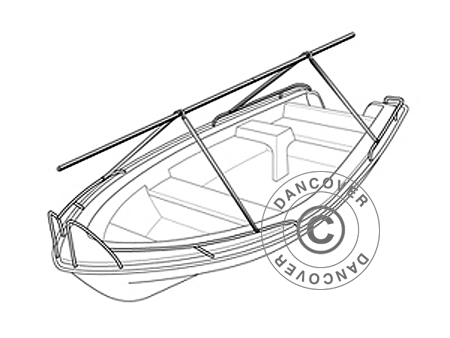 Frame for center console boats, NoTool ECONOMY, 4 m