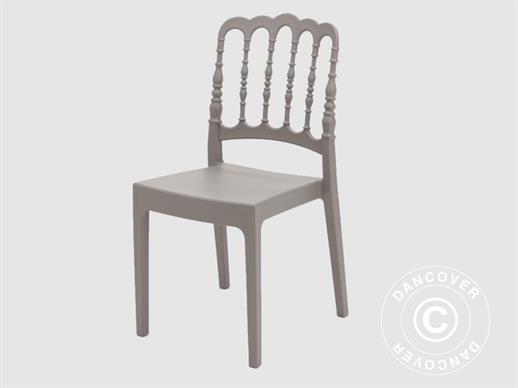 Stacking chair, Napoleon, Grey, 6 pcs.