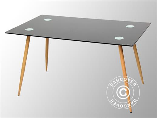 Dining table, Torino, 140x80x75 cm, Black/Oak
