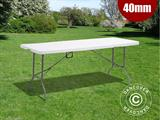 Folding Table 180x74x74 cm, Light Grey (1 pc.)