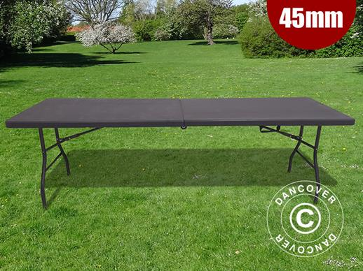 Folding Table 240x76x74 cm, Black (10 pcs.)