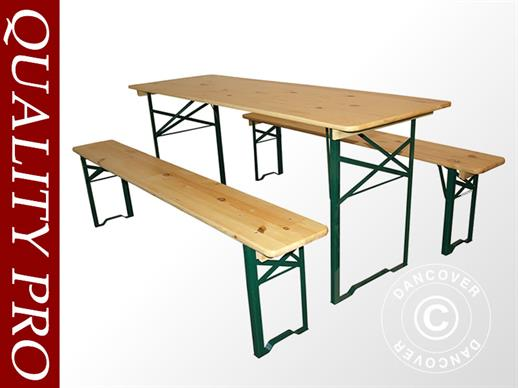 Beer Table Set 180x60x78 cm, Pinewood