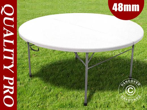 Round folding table Ø 183 cm, Light grey (1 pcs.)