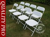 Folding Chair 44x44x80 cm, White, 8 pcs.