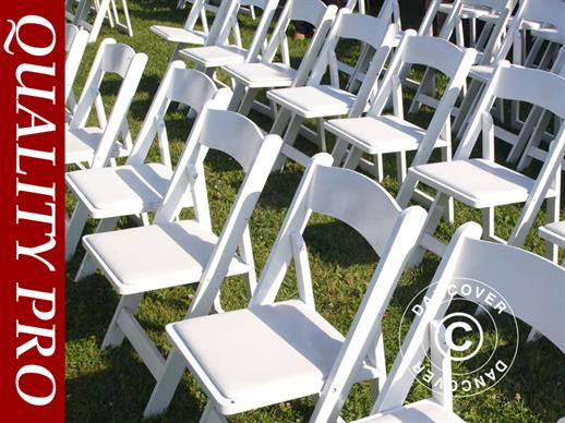 Padded Folding Chairs 44x46x77 cm, White, 4 pcs.
