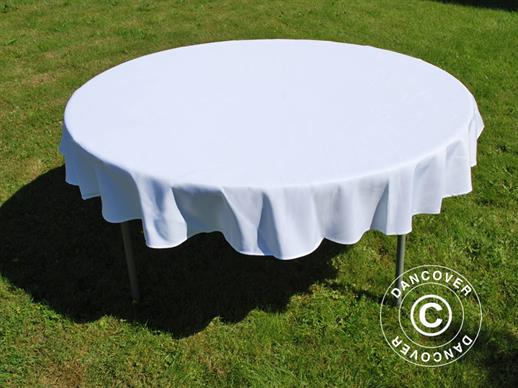 Tablecloth, dining, Ø116x20 cm, White