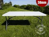 Folding Table 153x74x74 cm, Light grey (1 pc.)