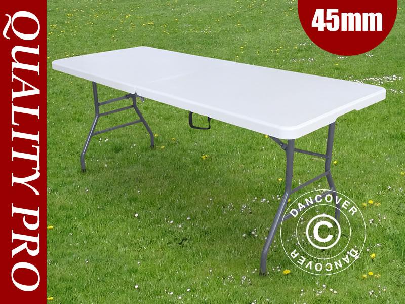 182x74x74cmGris Pliante Table Pro Clair1 Pièce BrdxCoeW