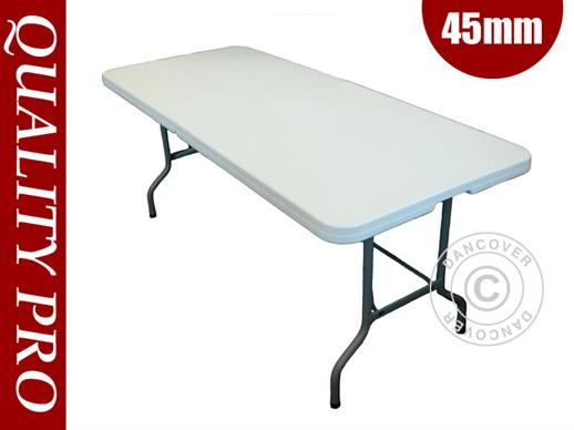 Table pliante 182x74x74cm, Gris clair (25 pcs)