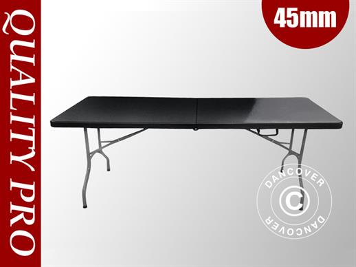 Table pliante 182x74x74cm, Noir (10 pcs)