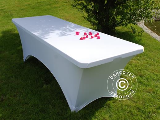 Stretch table cover, 183x75x74 cm, White