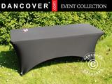 Stretch table cover 183x75x74 cm, Black