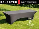 Stretch table Cover 244x75x74 cm, Black