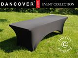 Stretch table cover 200x90x74 cm, Black