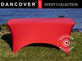 Stretch table cover 244x75x74 cm, Red