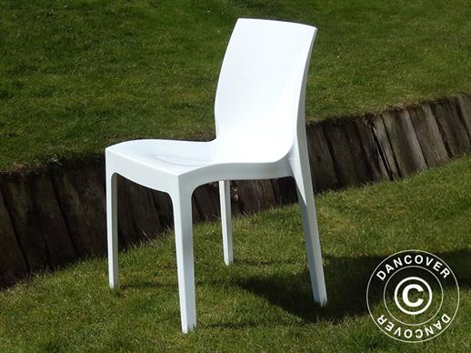 Chaise, Ice, Blanc laqué, 6 pcs