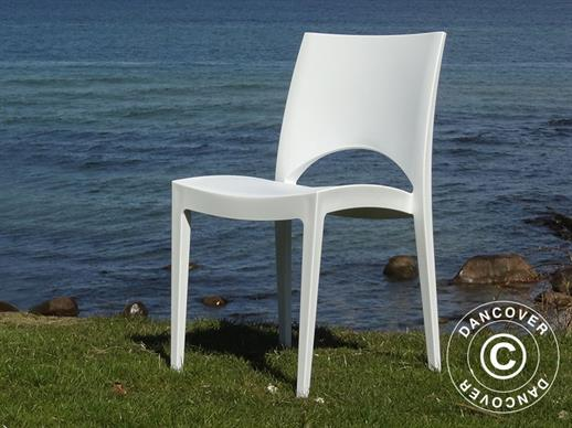 Chair, Paris, White, 6 pcs.