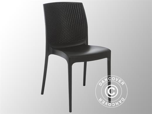 Stacking chair, Boheme, Anthracite, 6 pcs.