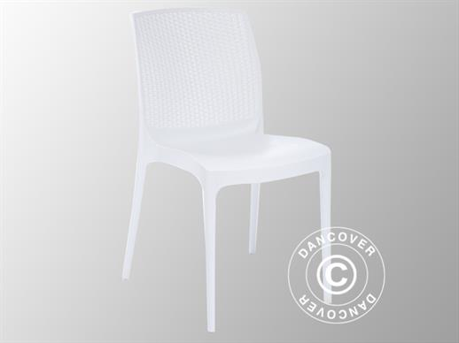 Stacking chair, Boheme, White, 6 pcs.
