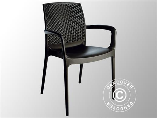 Chair with armrests, Boheme, Anthracite, 6 pcs.