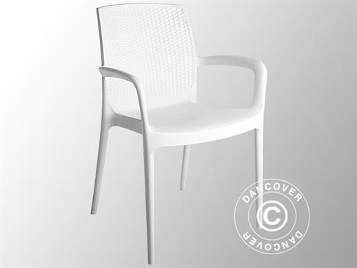 Chair with armrests, Boheme, White 6 pcs.