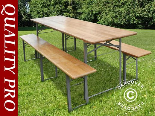 Beer Table Set 180x60x76 cm, Light wood, ONLY 1 PC. LEFT