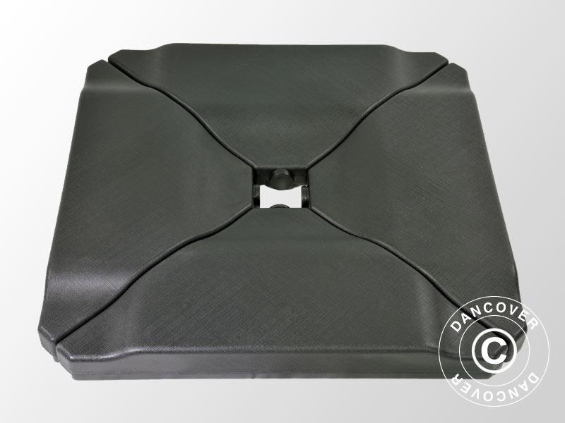 Zavorra di plastica per ombrellone  m nera