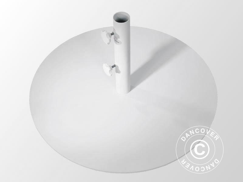 Base rotonda in acciaio per ombrellone Ø m bianca