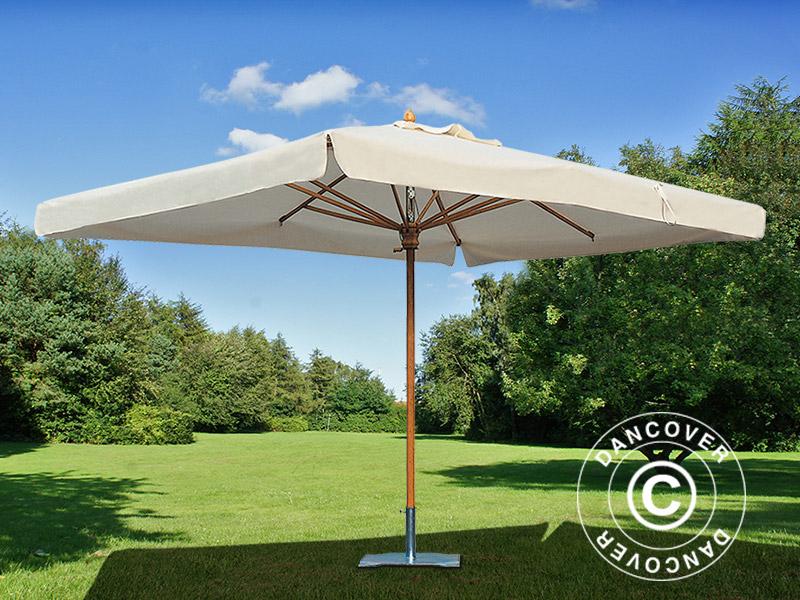 Stilig Parasol Palladio Standard med frise, 3x4m, Natur - Dancovershop DK KR-05