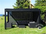 Sidewall screen f/pergola gazebo San Pablo, 4 m, Black - 3