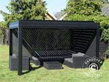 Sidewall screen f/pergola gazebo San Pablo, 4 m, Black - 4