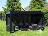 Sidewall screen f/pergola gazebo San Pablo, 4 m, Black - 5