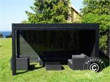 Sidewall screen f/pergola gazebo San Pablo, 4 m, Black - 7