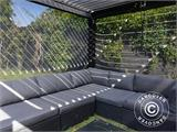 Sidewall screen f/pergola gazebo San Pablo, 4 m, Black - 11