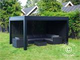 Sidewall screen f/pergola gazebo San Pablo, 4 m, Black - 13